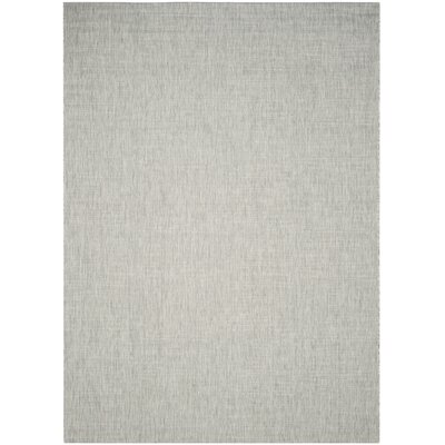 Adelia Gray/Turquoise Indoor/Outdoor Area Rug Rug Size: Rectangle 8 x 11