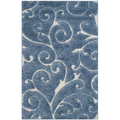 Alison Light Blue / Cream Area Rug Rug Size: Rectangle 4 x 6