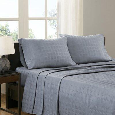 3 Piece Loraine Sheet Set Size: Full, Color: Blue