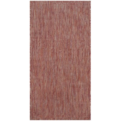 Adelia Red Indoor/Outdoor Area Rug Rug Size: Rectangle 27 x 5