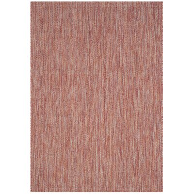 Adelia Red Indoor/Outdoor Area Rug Rug Size: Rectangle 4 x 57
