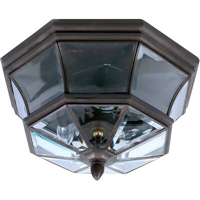 Mellen 3-Light Flush Mount Finish: Medici Bronze