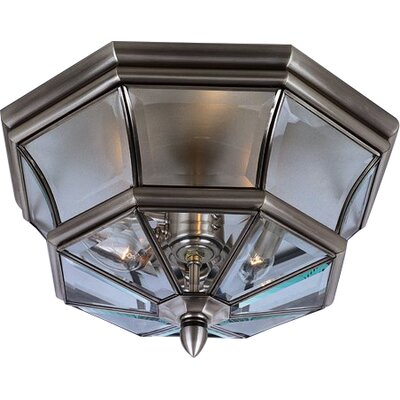 Mellen 3-Light Flush Mount Finish: Pewter