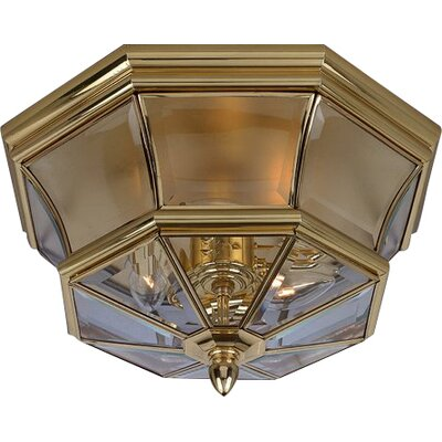 Mellen 3-Light Flush Mount Finish: Polished Brass