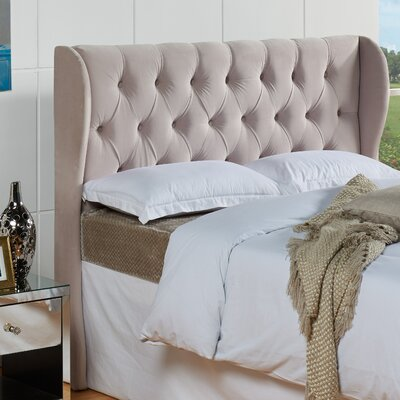 Yorkshire Upholstered Wingback Headboard Size: King / California King, Color: Oyster