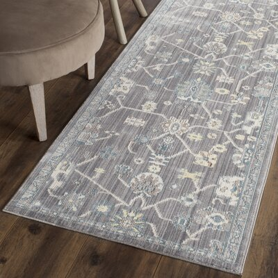 Croghan Gray Area Rug Rug Size: Runner 23 x 8