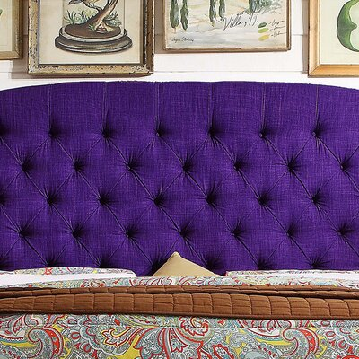Leatham Upholstered Wingback Headboard Size: Queen, Upholstery: Radiant Violet