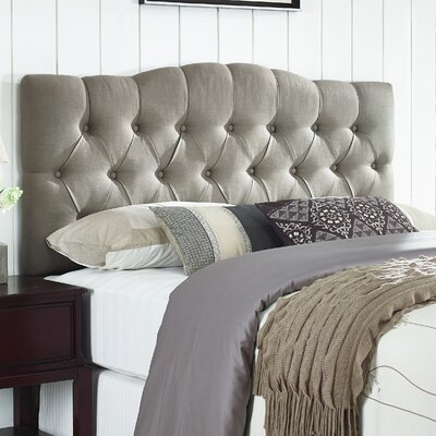 Cleveland Upholstered Panel Headboard Size: Full/Queen, Upholstery: Warm Gray-Beige