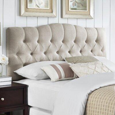 Cleveland Upholstered Panel Headboard Size: King/California King, Upholstery: Linen