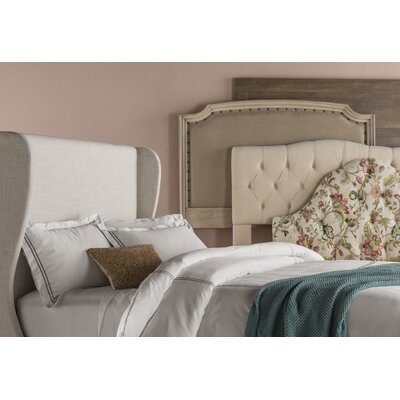Upholstered Wingback Headboard Size: Queen