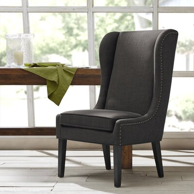 Andover Wingback Chair Upholstery: Black Noir