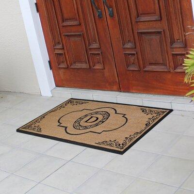 Abbot Bridge Monogrammed Doormat Letter: D