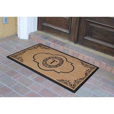 Abbot Bridge Monogrammed Doormat Letter: T