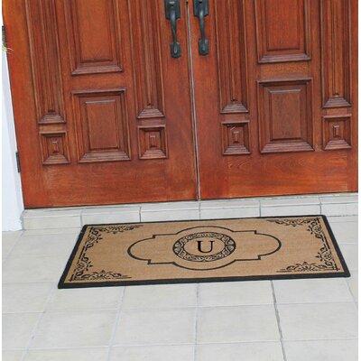 Abbot Bridge Monogrammed Doormat Letter: U