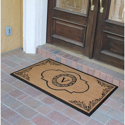 Abbot Bridge Monogrammed Doormat Letter: V