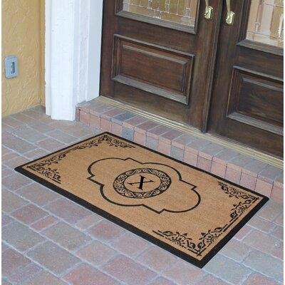 Abbot Bridge Monogrammed Doormat Letter: X