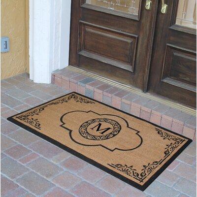 Abbot Bridge Monogrammed Doormat Letter: M