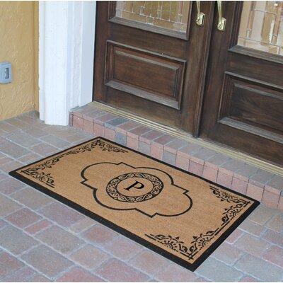 Abbot Bridge Monogrammed Doormat Letter: P