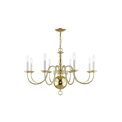 Allensby 6-Light Candle-Style Chandelier Finish: Polished Brass