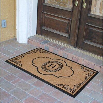 Abbot Bridge Monogrammed Doormat Letter: H