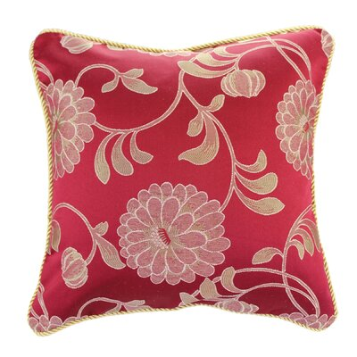 Calabria Decorative Pillow Cover Color: Burgundy