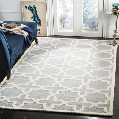 Cherry Hill Hand-Tufted Gray/Ivory Area Rug Rug Size: Rectangle 5 x 8