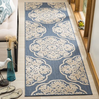Rockville Light Blue/Beige Indoor/Outdoor Area Rug Rug Size: Runner 23 x 8