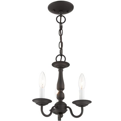 Allensby 3-Light Candle-Style Chandelier Finish: Bronze