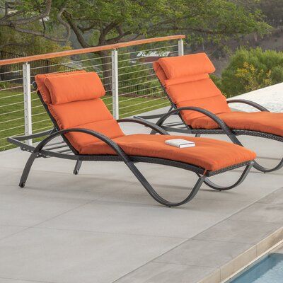 ShoppingCadeaux.com view picture of Northridge Chaise Lounge with Cushion Fabric: Tika Orange
