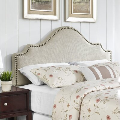 Clara Upholstered Panel Headboard Size: Full/Queen, Upholstery: Rice