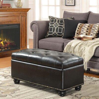 Sylvester Storage Ottoman Upholstery: Black