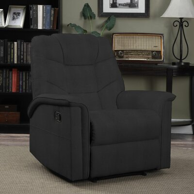 Timothy Manual Glider Recliner Upholstery: Black