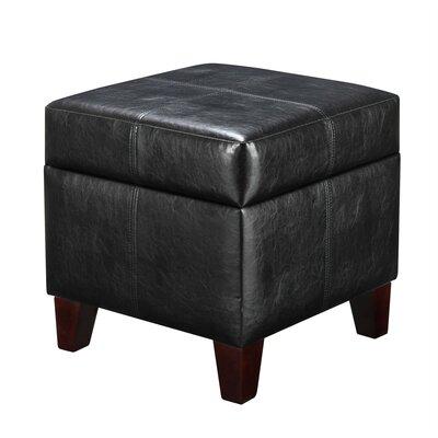 Desroches Storage Ottoman Upholstery: Black