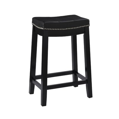 Russett 26 Bar Stool Color: Black