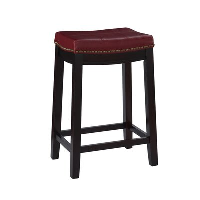 Russett 26 Bar Stool Color: Red