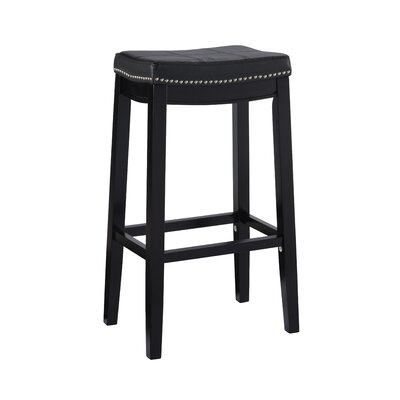Russett 32 Bar Stool Color: Black