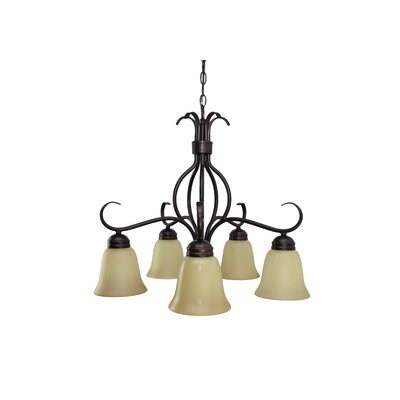Birdsall 5-Light Shaded Chandelier Finish: Wilshirewith Oil Rubbed Bronze Shade