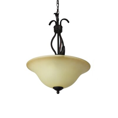 Birdsall 3-Light Bowl Pendant Finish/Shade Finish: Wilshire/Oil Rubbed Bronze