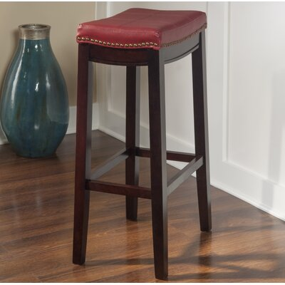 Russett 32 Bar Stool Color: Red