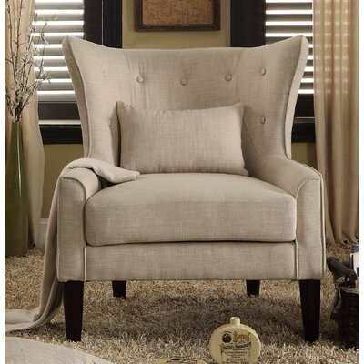 Millett Wingback Chair Upholstery: Beige