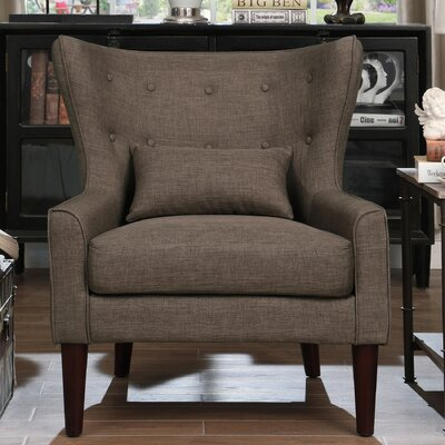 Millett Wingback Chair Upholstery: Brown