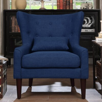 Millett Wingback Chair Upholstery: Navy