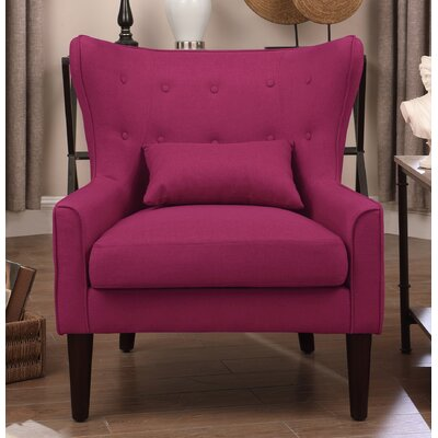 Millett Wingback Chair Upholstery: Pink