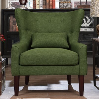 Millett Wingback Chair Upholstery: Green