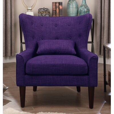 Millett Wingback Chair Upholstery: Violet