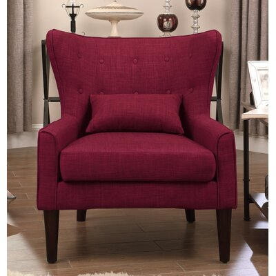 Millett Wingback Chair Upholstery: Burgundy