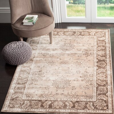 Lafond Beige/Light Brown Area Rug Rug Size: Rectangle 8 x 11
