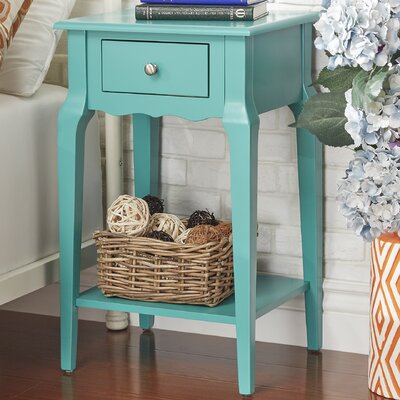 Hague End Table With Storage� Color: Marine Green