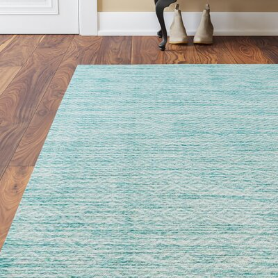 Adelia Aqua Area Rug Rug Size: Rectangle 67 x 96