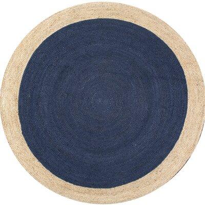 Murphysboro Hand-tufted Graphite Area Rug Rug Size: Round 8